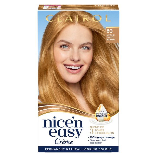 Nice n Easy Hair Dye Natural Honey Blonde 8G