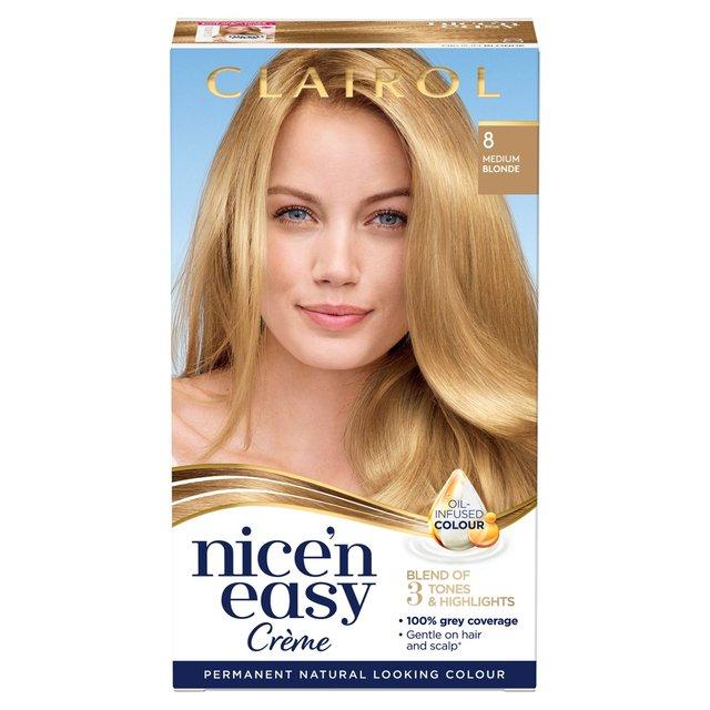Nice N Easy Hair Dye Natural Medium Blonde 8 From Ocado
