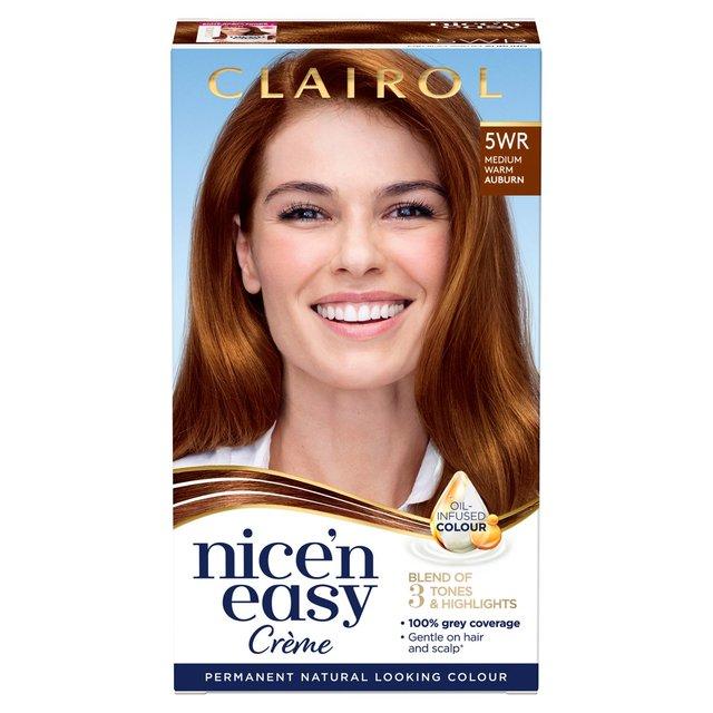 Nice n Easy Hair Dye Natural Warm Auburn 5WR from Ocado
