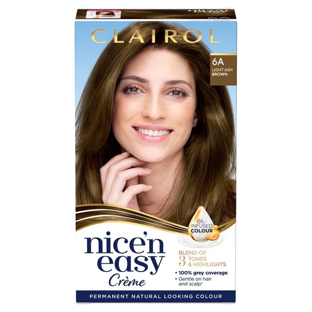 Nice N Easy Hair Dye Natural Light Ash Brown 6A From Ocado