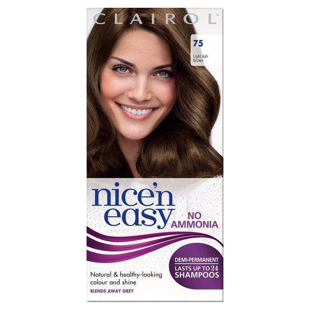 Nice N Easy No Ammonia Hair Dye Light Ash Brown 75 From Ocado