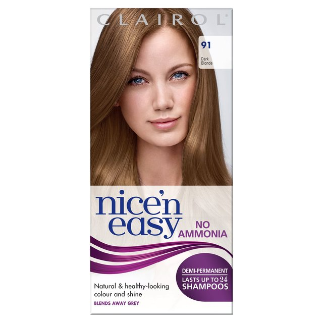 Nice N Easy No Ammonia Hair Dye Dark Blonde 91 From Ocado