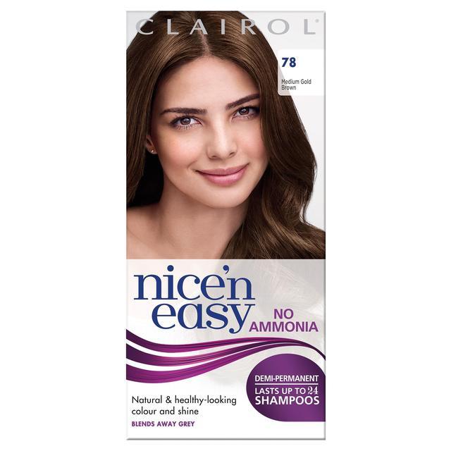 Nice N Easy No Ammonia Hair Dye Medium Golden Brown 78 From Ocado