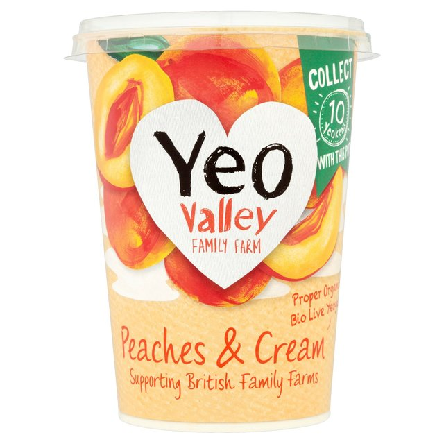Yeo Valley Organic Peaches & Cream Yogurt