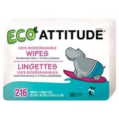 Attitude Eco Baby Wipes 100% Biodegradable