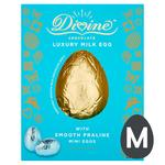 Divine Milk Chocolate Egg with Praline Mini Eggs