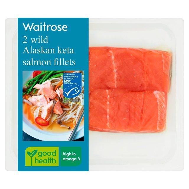 Waitrose 2 Wild Alaskan Keta Salmon Fillets | Ocado