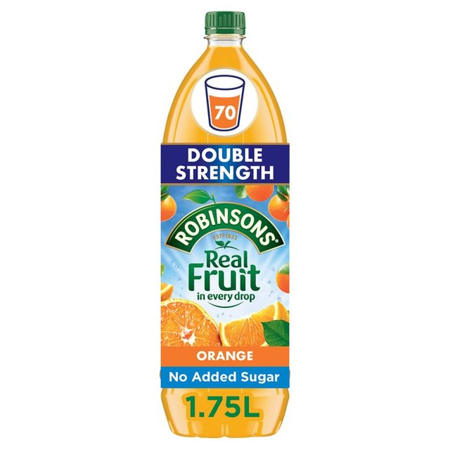 Robinsons Orange No Added Sugar Double Concentrate
