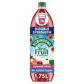 Robinsons Summer Fruits No Added Sugar Double Concentrate
