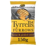 Tyrrells Cheddar Cheese & Pickled Onion Furrows