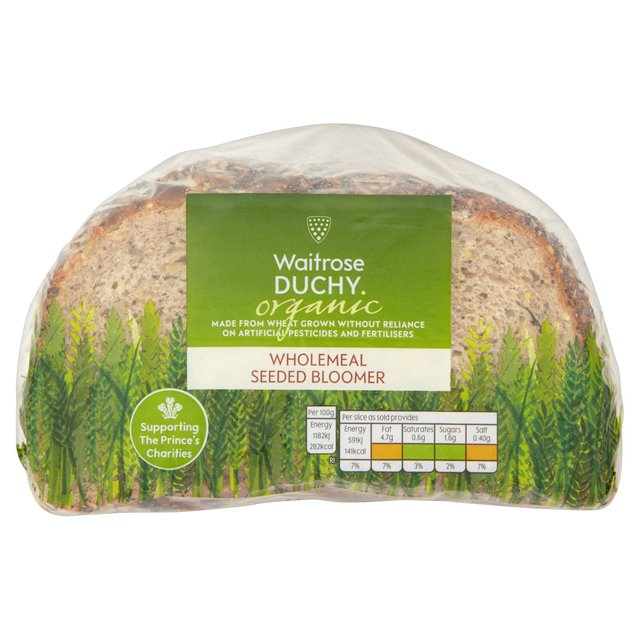 Waitrose Duchy Organic Seeded Sliced Bloomer
