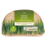 Waitrose Duchy Organic Rye & Sunflower Bloomer