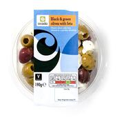 Ocado Black & Green Olives with Feta
