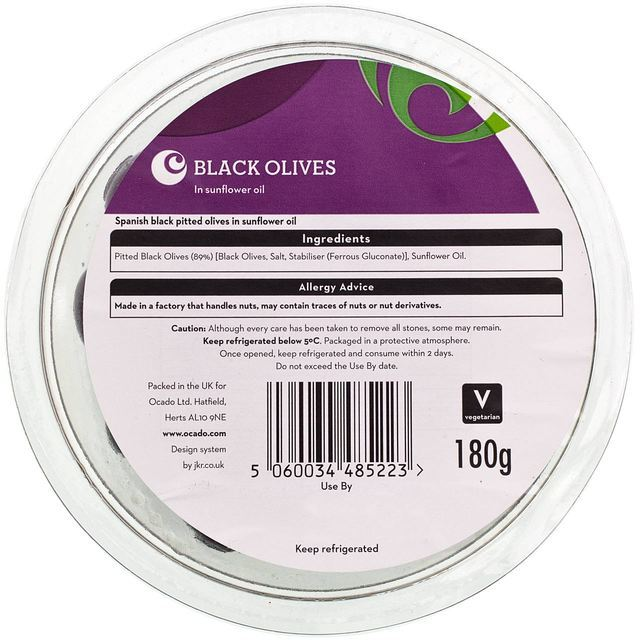 Ocado Black Olives