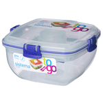 Sistema Plastic Salad To Go Container, Blue