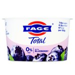 Total Greek 0% Yoghurt with Blueberry
