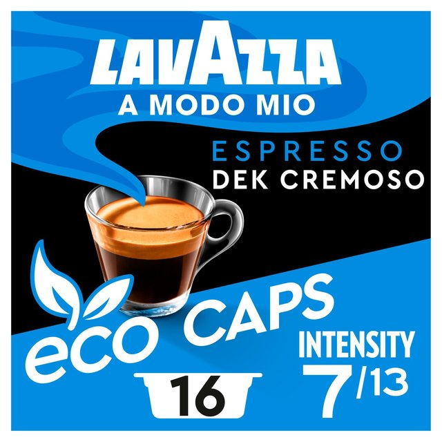 lavazza a modo mio espresso dek cremoso 16 per pack from ocado. Black Bedroom Furniture Sets. Home Design Ideas