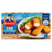 Birds Eye 10 Cod Fish Fingers Frozen