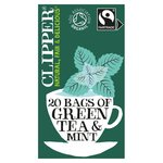 Clipper Organic Fairtrade Green Tea Bags with Peppermint