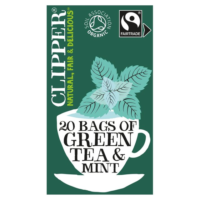 clipper fairtrade green with peppermint tea bags 26 per. Black Bedroom Furniture Sets. Home Design Ideas