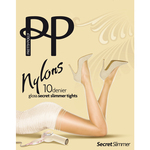 Pretty Polly 10 Denier Secret Slimmer Gloss Tights Black S / M
