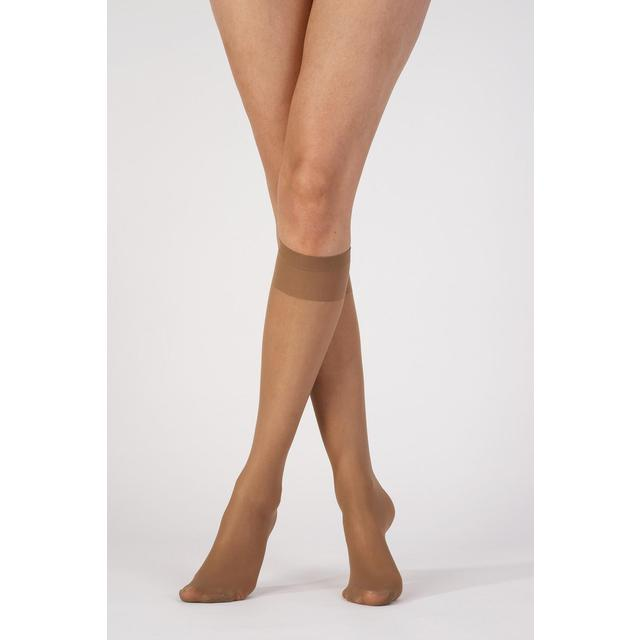 Pretty Polly Silver Fresh Knee Highs, Nude OS