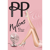 Pretty Polly 10 Denier Gloss Tights, Natural Sherry, M