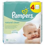 Natural Clean Unscented Baby Wipes 4 x 64 per pack