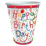 Happy Birthday Paper Cups, 266ml