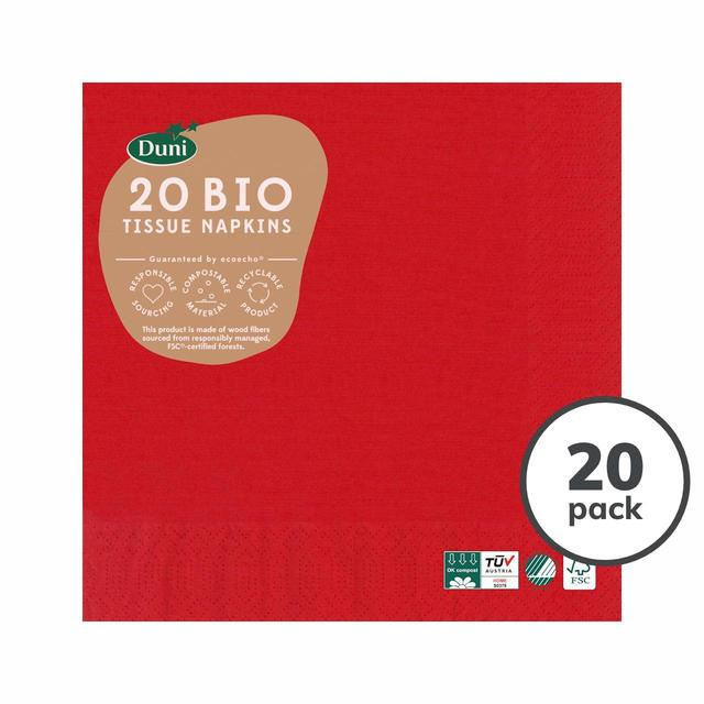 3Ply Napkins 33cm, Red