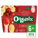 Organix Apple & Banana / Apple & Cherry Fruit pots