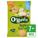 Organix Apple Organic Baby Finger Food Snack Rice Cakes Multipack