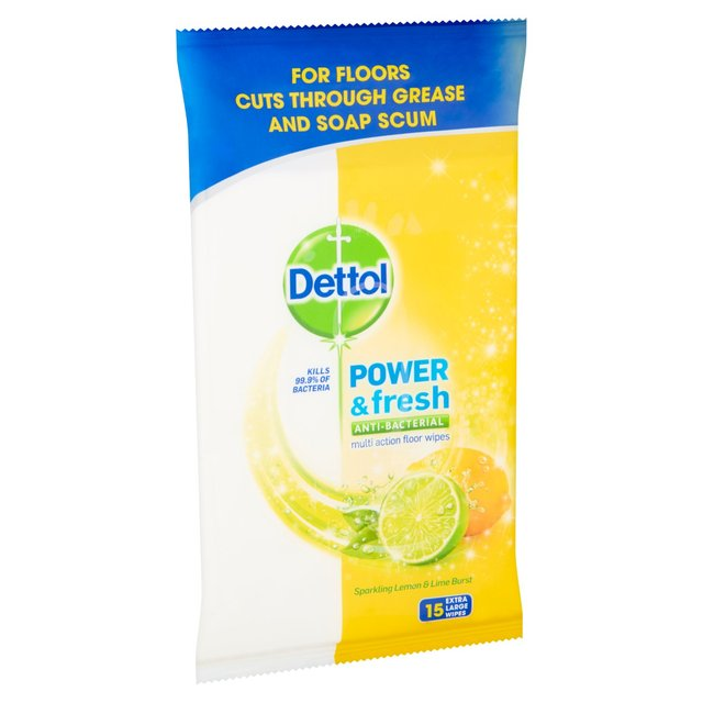 dettol floor cleaning wipes lemon 15 per pack from ocado