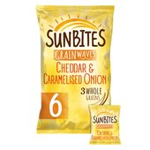 Sunbites Cheddar & Onion Multigrain Snacks 25g x