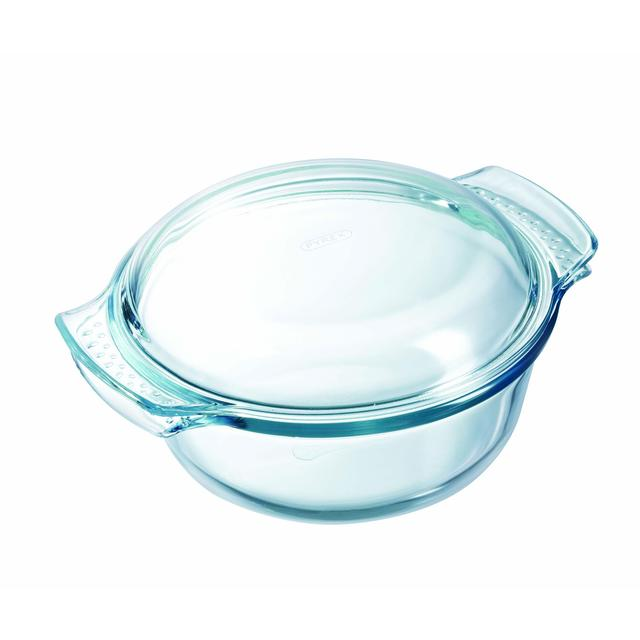 pyrex glass round casserole dish amp lid 20cm from ocado