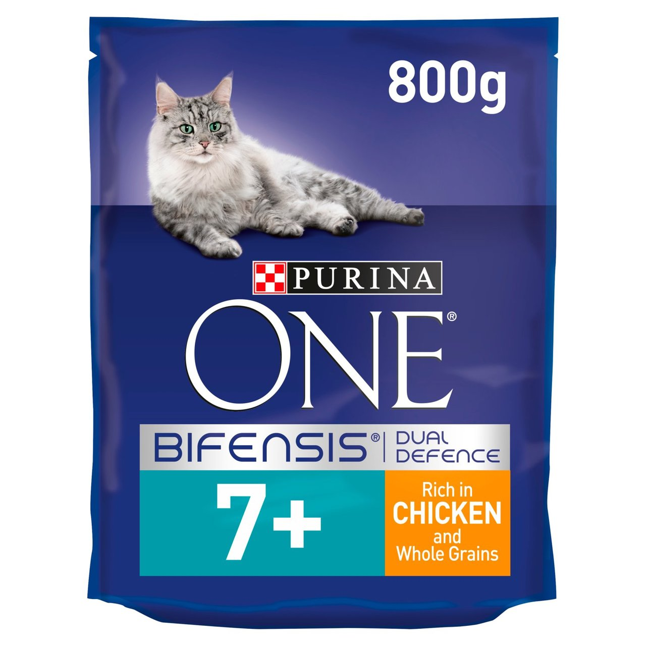 An image of Purina One 7+ Cat Chicken & Wholegrains