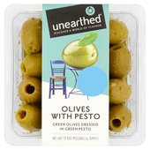 Unearthed Green Olives Marinated in Green Pesto