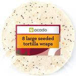 Ocado Large Seeded Tortilla Wraps