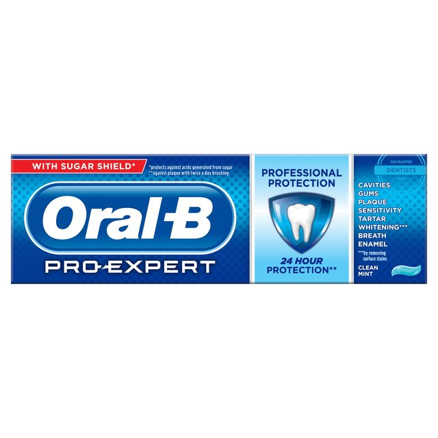 oral b pro expert clean mint toothpaste 75ml from ocado. Black Bedroom Furniture Sets. Home Design Ideas