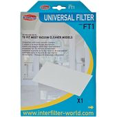 Interfilter Universal Microfibre Replacement Filter For Vacuum Cleaners