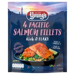 Young's 4 Pink Salmon Fillets Frozen