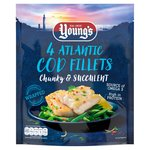 Young's 4 Atlantic Cod Fillets Frozen