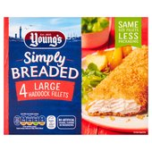 Young's 4 Large Breaded Haddock Fillets Frozen