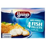 Young's 4 Breaded Fish Fillets Frozen