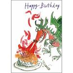 Quentin Blake Dragon Birthday Card