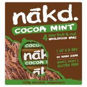 Nakd Free From Cocoa Mint Multipack