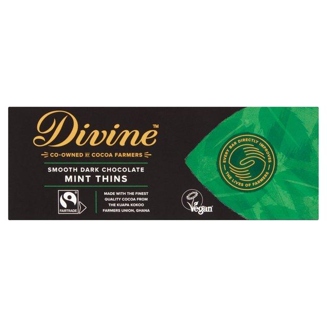 Divine Dark Chocolate Mint Thins 200g from Ocado