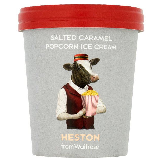 Heston from Waitrose Salted Caramel Popcorn Ice Cream ...