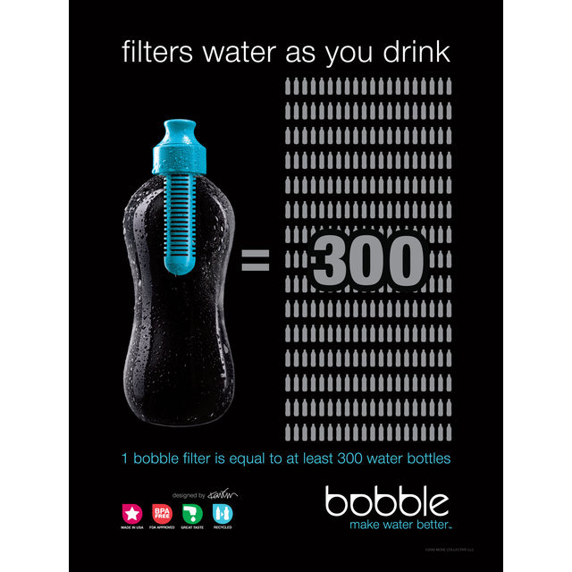 53581786cc Bobble Replacement Water Bottle Filter, Black from Ocado