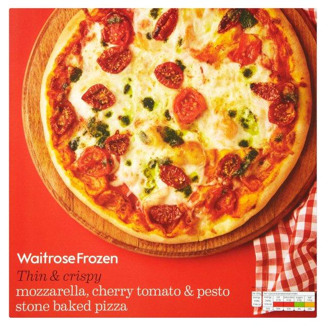 Mozzarella & Cherry Tomato Pizza Frozen Waitrose 377g from Ocado
